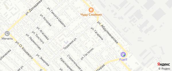 Трудовой переулок на карте Каспийска с номерами домов