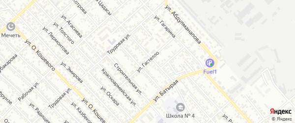 Улица Гастелло на карте Каспийска с номерами домов
