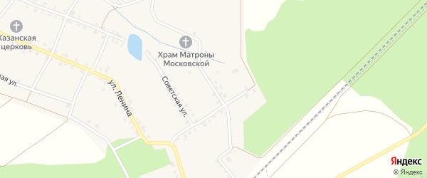 Лесная улица на карте села Малые Кибечи с номерами домов