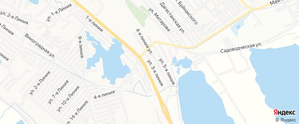 Карта аала Район озера Турали города Каспийска в Дагестане с улицами и номерами домов