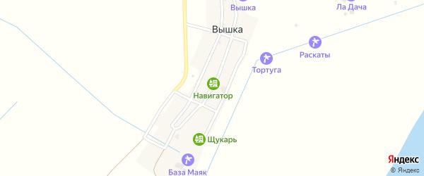 Рыбацкая улица на карте села Вышки с номерами домов