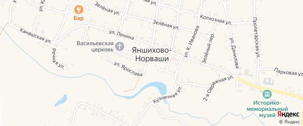 Улица Х.Семеня на карте села Яншихова-Норвашей с номерами домов