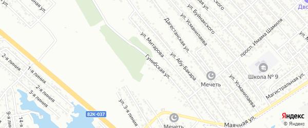 Гунибская улица на карте Каспийска с номерами домов