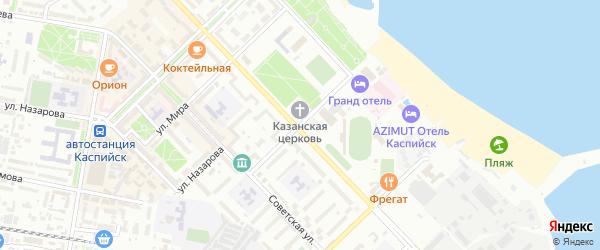 Комсомольская улица на карте Каспийска с номерами домов
