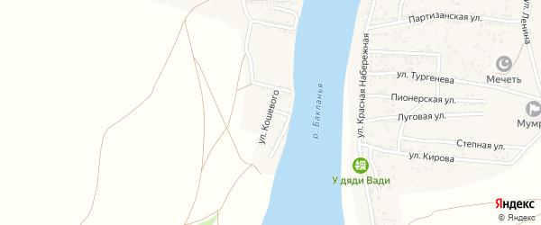 Улица Олега Кошевого на карте Товарного поселка с номерами домов