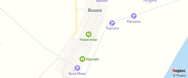 Набережная улица на карте села Вышки с номерами домов