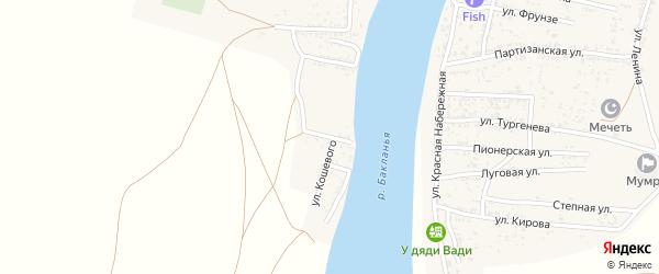 Улица Чкалова на карте Товарного поселка с номерами домов