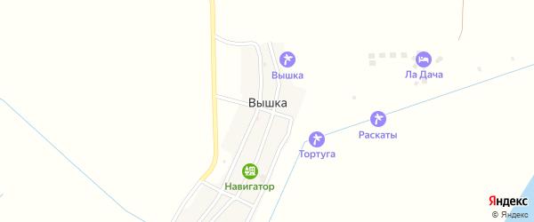 Октябрьская улица на карте села Вышки с номерами домов