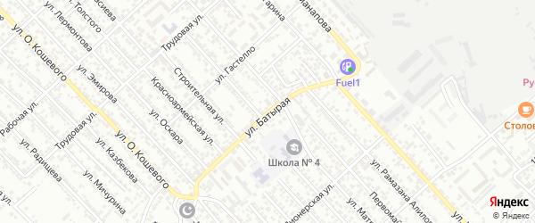 Батырая улица на карте Каспийска с номерами домов