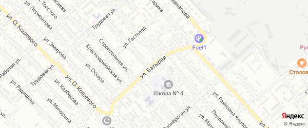 Переулок Батырая на карте Каспийска с номерами домов