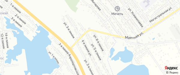 Улица Линия 2 на карте аала Район озера Турали с номерами домов
