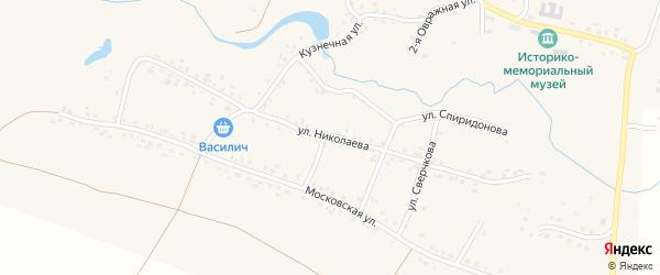 Улица Николаева на карте села Яншихова-Норвашей с номерами домов