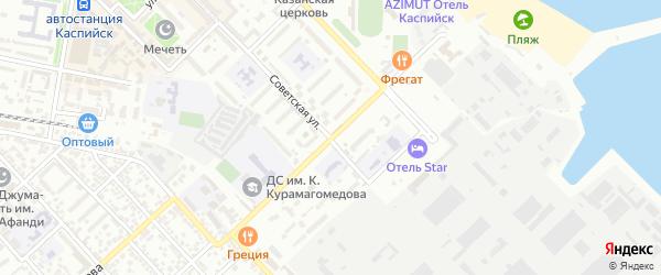 Переулок Алферова на карте Каспийска с номерами домов