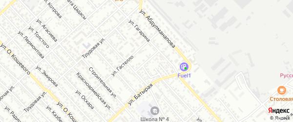 Вокзальный переулок на карте Каспийска с номерами домов
