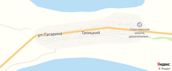 Улица Кирова на карте Троицкого поселка с номерами домов