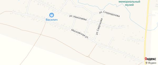 Московская улица на карте села Яншихова-Норвашей с номерами домов