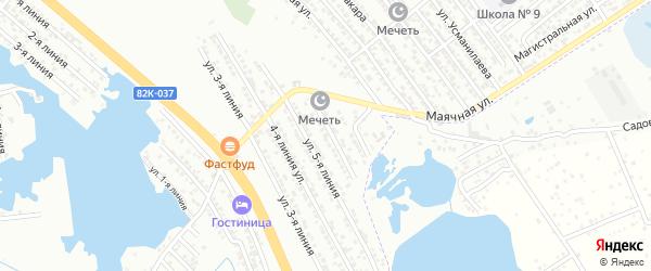 Улица Линия 11 на карте Кирпичного поселка с номерами домов