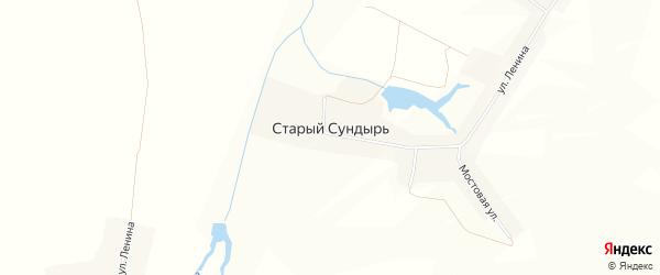 Карта деревни Старого Сундыря в Чувашии с улицами и номерами домов