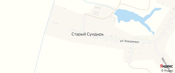 Гвардейская улица на карте деревни Старого Сундыря с номерами домов