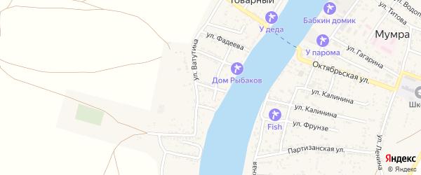 Улица Матросова на карте Товарного поселка с номерами домов