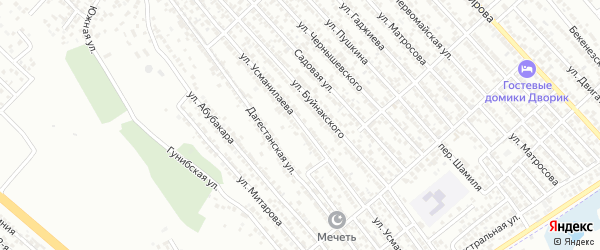 Улица Усманилаева на карте Каспийска с номерами домов