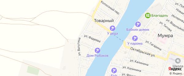 Улица Фадеева на карте Товарного поселка с номерами домов