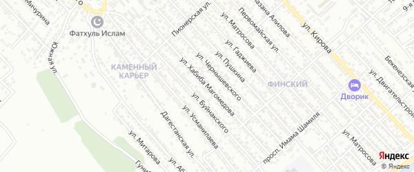 Садовая улица на карте Каспийска с номерами домов