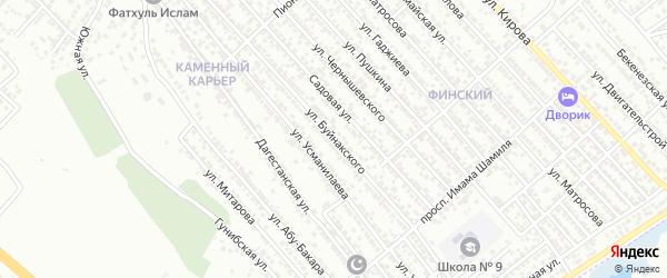 Улица Буйнакского на карте Каспийска с номерами домов