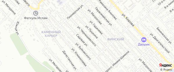 Улица Чернышевского на карте Каспийска с номерами домов