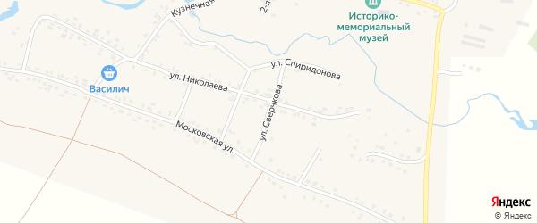 Улица Сверчкова на карте села Яншихова-Норвашей с номерами домов
