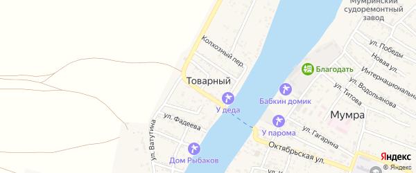 Улица Л.Шевцовой на карте Товарного поселка с номерами домов