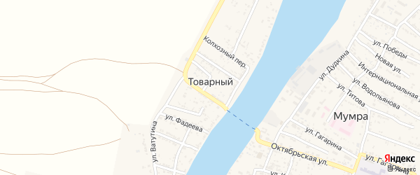 Переулок Тулина на карте Товарного поселка с номерами домов