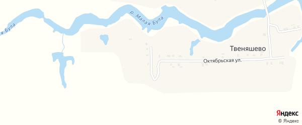 Пролетарская улица на карте деревни Твеняшево с номерами домов