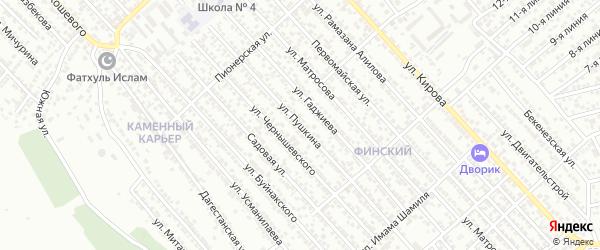 Улица Пушкина на карте Каспийска с номерами домов