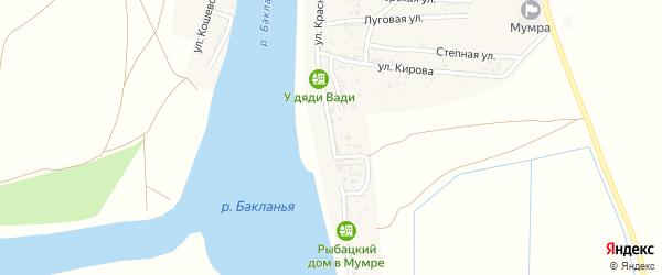 Красная Набережная улица на карте села Мумры с номерами домов