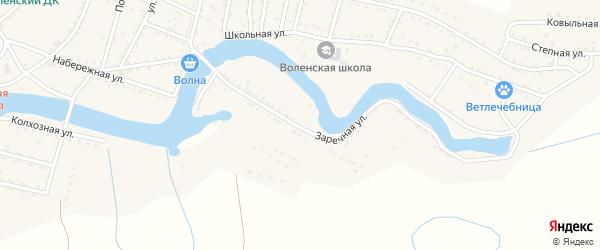 Заречная улица на карте Вольного села с номерами домов