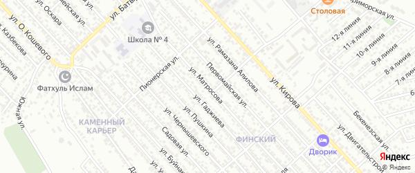 Улица Матросова на карте Каспийска с номерами домов