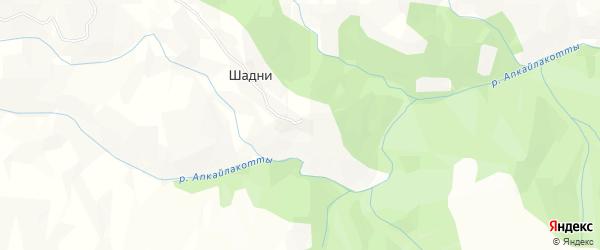 Карта села Шадни в Дагестане с улицами и номерами домов