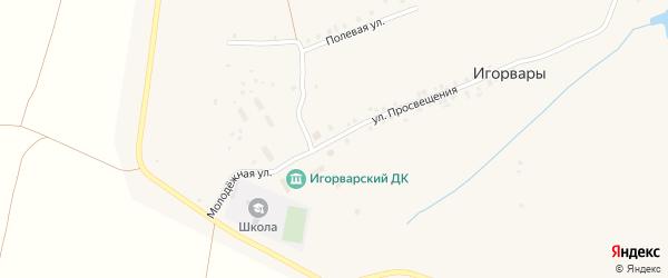 Молодежная улица на карте села Игорвары с номерами домов