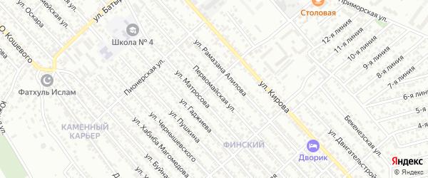 Первомайская улица на карте Каспийска с номерами домов