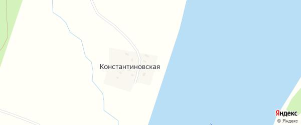 Береговая улица на карте Константиновской деревни с номерами домов