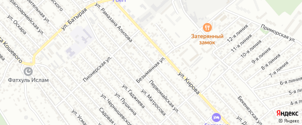 Улица Р.Алилова на карте Каспийска с номерами домов