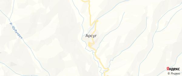 Карта села Арсуга в Дагестане с улицами и номерами домов