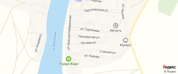 Пионерская улица на карте села Мумры с номерами домов