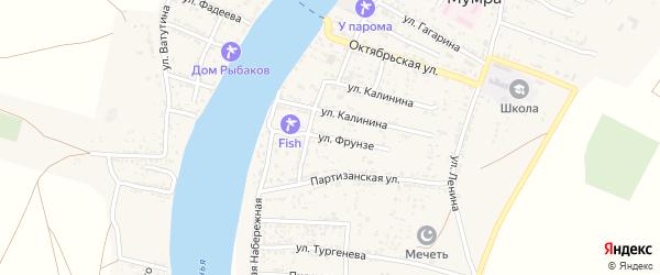 Улица Фрунзе на карте села Мумры с номерами домов