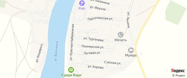 Улица Тургенева на карте села Мумры с номерами домов