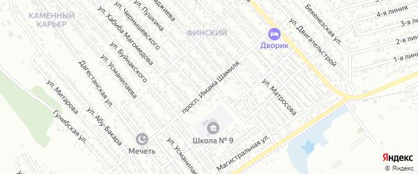 Переулок Шамиля на карте Каспийска с номерами домов