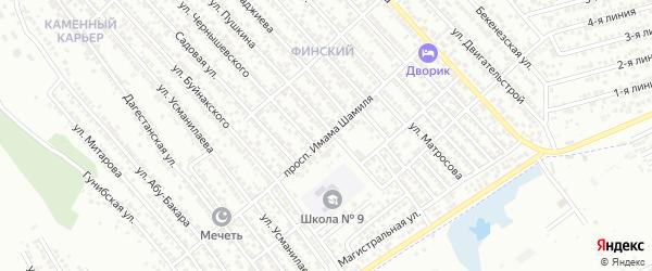Улица И.Шамиля на карте Каспийска с номерами домов