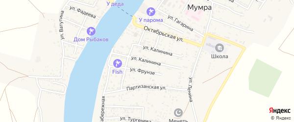 Улица Калинина на карте села Мумры с номерами домов