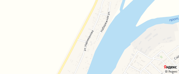 Улица Нариманова на карте Товарного поселка с номерами домов